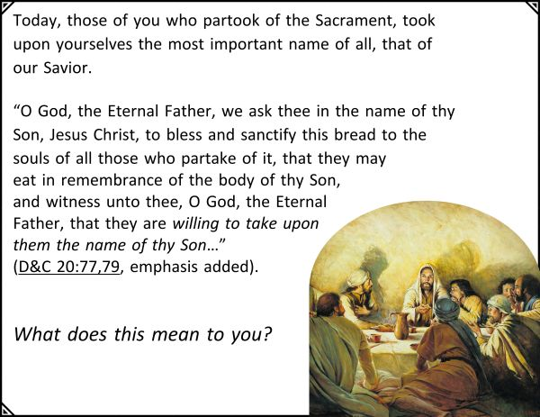 Sacrament - NAME